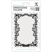 Xcut Universal A6 Embossing Folder-Leafy Border