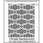 Our Daily Bread Cling Rubber Stamp 13cm x 17cm -Ornate Background