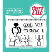Avery Elle Clear Stamp Set 10cm x 7.6cm -Lucky
