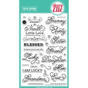 Avery Elle Clear Stamp Set 10cm x 15cm -Needle Little Love