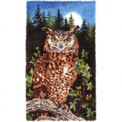 Wonderart Classic Latch Hook Kit 80cm x 130cm -Majestic Owl