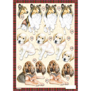 3D Die-Cut Decoupage Sheet 21cm x 30cm -Collie
