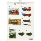3D Die-Cut Decoupage Sheet 21cm x 30cm -Boats