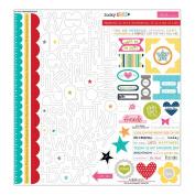 Lucky Starz Cardstock Stickers 30cm x 30cm -Treasures & Text