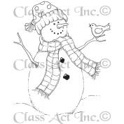 Class Act Cling Mounted Rubber Stamp 7cm x 9.5cm -Bird Snowman