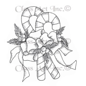 Class Act Cling Mounted Rubber Stamp 7.6cm x 14cm -Candy Canes