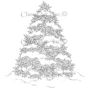 Class Act Cling Mounted Rubber Stamp 9.5cm x 11cm -Winter Tree