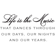 Verses Cling Mounted Rubber Stamp 11cm x 17cm -Music & Years