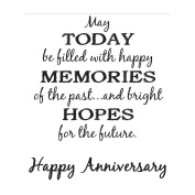 Verses Cling Mounted Rubber Stamp 11cm x 17cm -Bright Hopes Anniversary