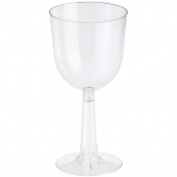 Plastic Wine Glasses 350ml 4/Pkg-Clear