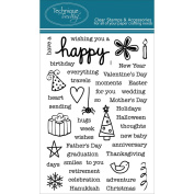 Technique Tuesday Clear Stamps 10cm x 15cm -Say It-Happy