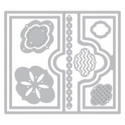 Sizzix Framelits Dies 10/Pkg-Elegant Flip-Its Card
