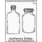 Our Daily Bread Cling Rubber Stamp 9.5cm x 15cm -Apothecary Jars