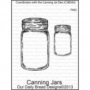 Our Daily Bread Cling Rubber Stamp 9.5cm x 15cm -Canning Jars