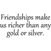 Riley & Company Funny Bones Cling Mounted Stamp 5.1cm x 2.5cm -Friendships Make Us Richer...