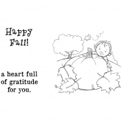 Phyllis Harris Unmounted Rubber Stamp Set 13cm x 13cm -Happy Fall Baby