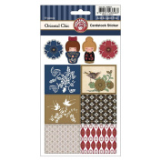 Oriental Chic Cardstock Stickers 2 Sheets/Pkg