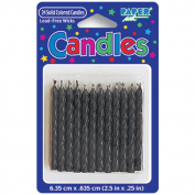 Birthday Candles 6.4cm 24/Pkg-Black
