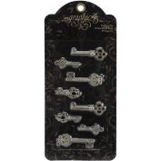 Staples Ornate Metal Keys 8/Pkg-Shabby Chic 4 Styles/2 Each