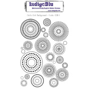 IndigoBlu Cling Mounted Stamp 13cm x 10cm -Circle Dot Background