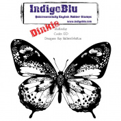 IndigoBlu Cling Mounted Stamp 10cm x 10cm -Flutterby-Dinkie
