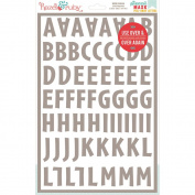 Stencil Mask Peel Away Alphabet 30cm x 20cm Sheets 2/Pkg-Brooklyn, 3.2cm Letters