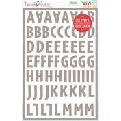 Stencil Mask Peel Away Alphabet 30cm x 20cm Sheets 2/Pkg-Brooklyn, 3.2cm Letters