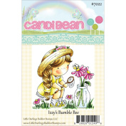Candibean Unmounted Rubber Stamp 7.9cm x 7.4cm -Izzy's Bumble Bee