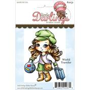 Cutie Pies Unmounted Rubber Stamp 8.3cm x 6.5cm -World Traveller