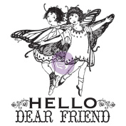 Princess Clear Stamps 6.4cm x 7.6cm -#2 Hello Dear Friend