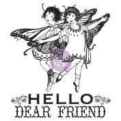 Princess Clear Stamps 6.4cm x 7.6cm -#2 Hello Dear Friend