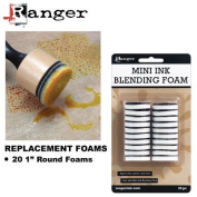 Mini Ink Blending Replacement Foams, 2.5cm Round, 20pk, For IBT40965