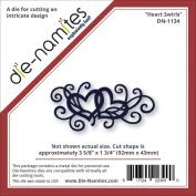 Die-Namites Die-Heart Flourish, 9.2cm x 4.4cm