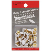 Thumbtacks 60/Pkg-White