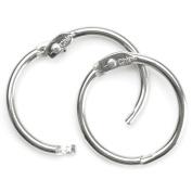 Book Rings 2.5cm 4/Pkg-Silver