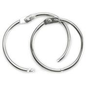 Book Rings 3.8cm 3/Pkg-Silver