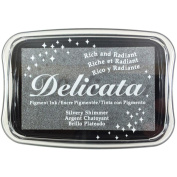 Delicata Non-Tarnishing Silver Full Size Ink Pad-Silvery Shimmer