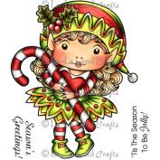 La-La Land Cling Mount Christmas Stamps 11cm x 8.9cm -Elf Marci