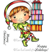 La-La Land Cling Mount Christmas Stamps 11cm x 8.9cm -Elf Luka