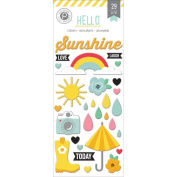 Hello Sunshine Puffy Stickers