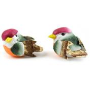 Mushroom Birds 2.5cm 2/Pkg-Mini Birds