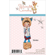 Saturated Canary Unmounted Rubber Stamp 11cm x 4.4cm -Stinker