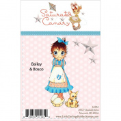 Saturated Canary Unmounted Rubber Stamp 11cm x 5.7cm -Bailey & Bosco