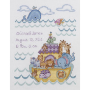 Noah's Ark Birth Record Counted Cross Stitch Kit-25cm x 33cm 14 Count