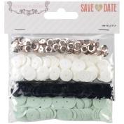 Save The Date Sequins 4 Colours & Sizes/Pkg-