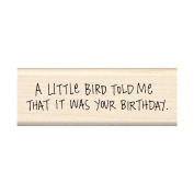 Inkadinkado Mounted Rubber Stamp 3.8cm x 10cm -A Little Bird Told Me