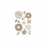 Little B Cutting Die-Bouquet, 17/Pkg, .13cm - 4.4cm