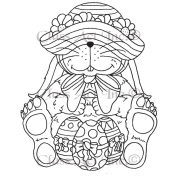 Class Act Cling Mounted Rubber Stamp 9.5cm x 7.6cm -Floppy Hat Bunny