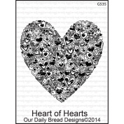 Our Daily Bread Cling Rubber Stamp 9.5cm x 15cm -Heart Of Hearts