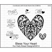 Our Daily Bread Cling Rubber Stamp 12cm x 18cm -Bless Your Heart